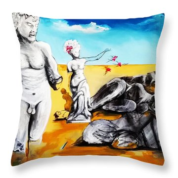 Shattered Limbs To Shattered Souls Throw Pillow