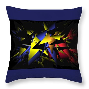 Shattering World Throw Pillow