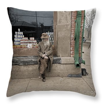 Shawneetown Colourised Throw Pillow by Russ Brown