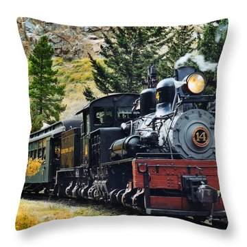 Shay On The Georgetown Loop Throw Pillow by Ken Smith