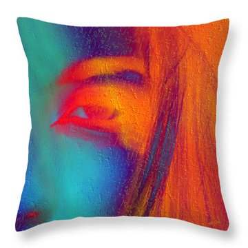 She Awakes Throw Pillow