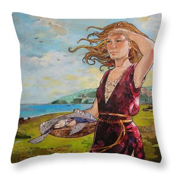She Baked The Loaves And Dried The Fishes Throw Pillow