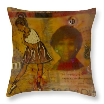 She Believed She Could Throw Pillow by Angela L Walker