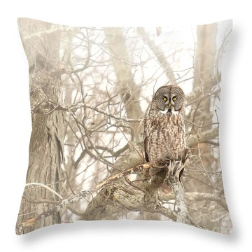 She Can See Everything Through The Fog Throw Pillow