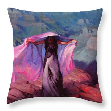 She Danced By The Light Of The Moon Throw Pillow