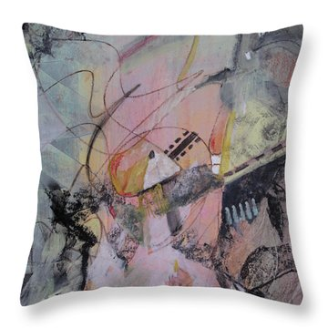 Throw Pillow featuring the mixed media She Got Lost On Purpose by Robin Maria Pedrero