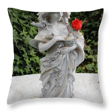 Throw Pillow featuring the photograph She Includes The Rose by Marie Neder