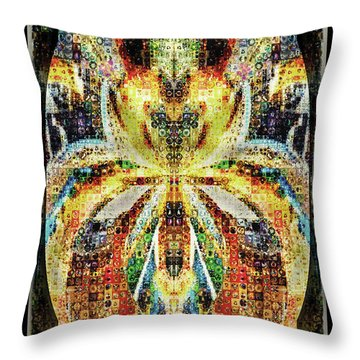 She Is A Mosaic Throw Pillow