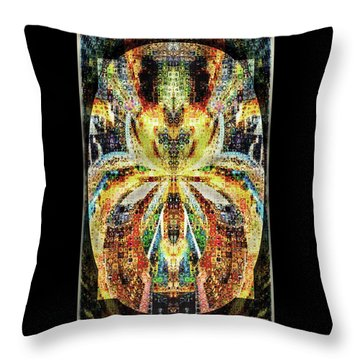She Is A Mosaic Throw Pillow by Paula Ayers