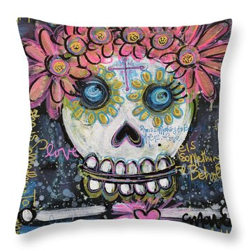 Throw Pillow featuring the painting She Is Something To Behold by Laurie Maves ART