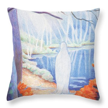 She Is Still Throw Pillow by Amy S Turner