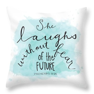 Throw Pillow featuring the painting She Laughs by Nancy Ingersoll