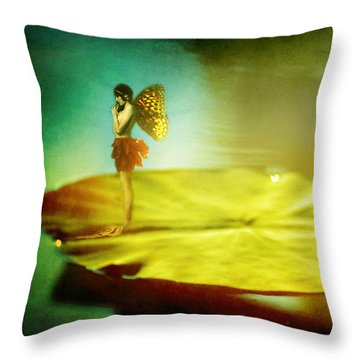 She Listens  Throw Pillow by Rebecca Sherman