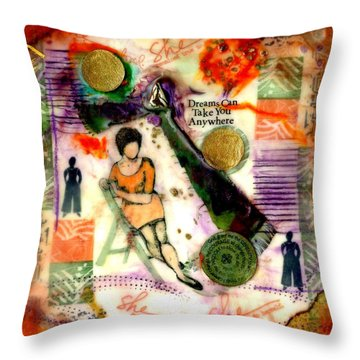 She Remained True Throw Pillow by Angela L Walker