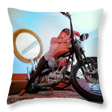 She Rides- Throw Pillow