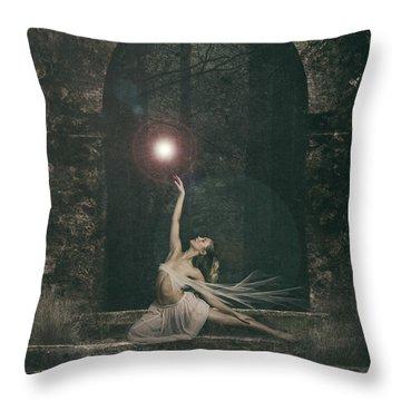 She Sat A While And Watched The Fairy Dance Throw Pillow