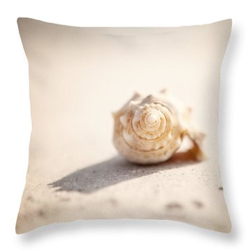 She Sells Sea Shells Throw Pillow by Lisa Russo