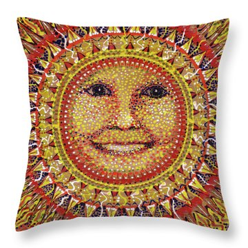 Throw Pillow featuring the painting She Shines by Kym Nicolas
