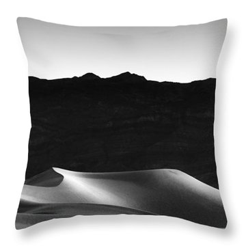 She Sleeps On Her Side Throw Pillow