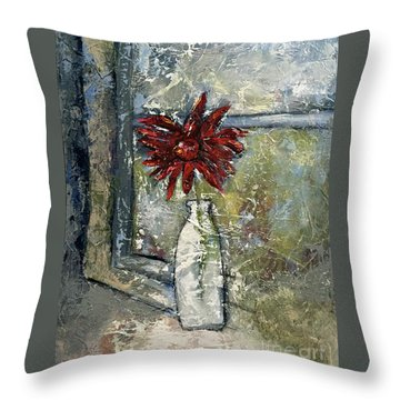 She Soaked In The Sun Throw Pillow by Kirsten Reed
