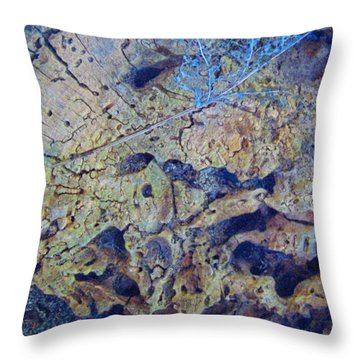 She Speaks Of Moon Time Throw Pillow