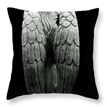 She Talks With Angels Throw Pillow