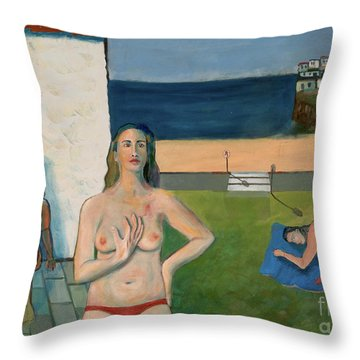 She Walks In Beauty Throw Pillow