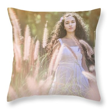 She Who Seeks Shall Find Throw Pillow