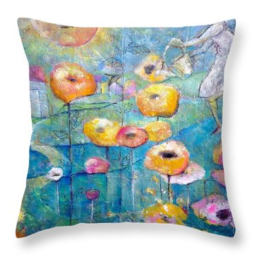 She Who Waters Throw Pillow by Eleatta Diver