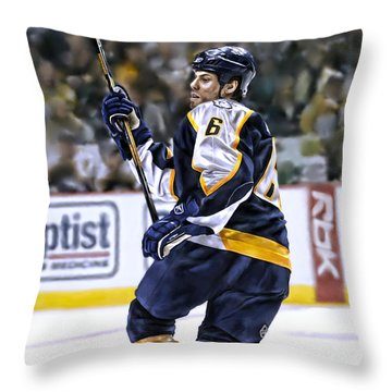 Throw Pillow featuring the photograph Shea Weber by Don Olea