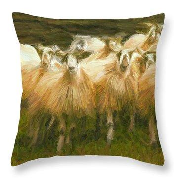 Sheep At Hadrian's Wall Throw Pillow