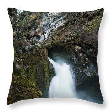 Sheep Creek Falls Throw Pillow