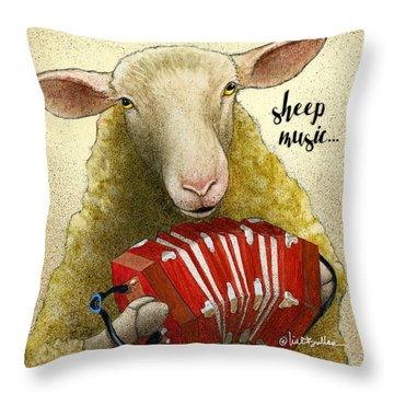 Sheep Music... Throw Pillow