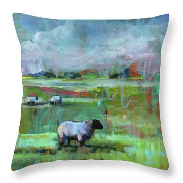 Sheep Of His Field Throw Pillow