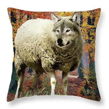 Sheep's Clothing Throw Pillow