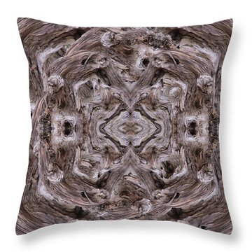Sheep's Head Vortex Kaleidoscope Throw Pillow
