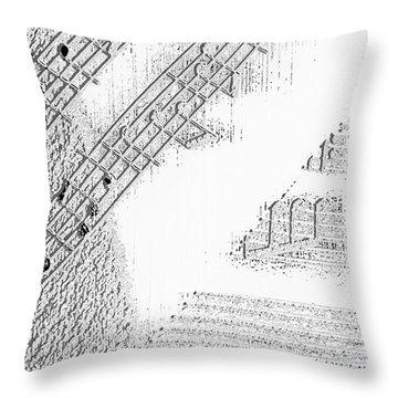 Sheet Music Throw Pillow