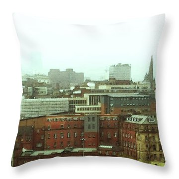 Throw Pillow featuring the photograph Sheffield Skyline by Anne Kotan