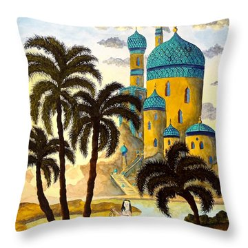 Shehriyar And Shahzeman Throw Pillow