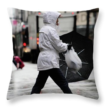 Sheild Of Rain  Throw Pillow by Empty Wall