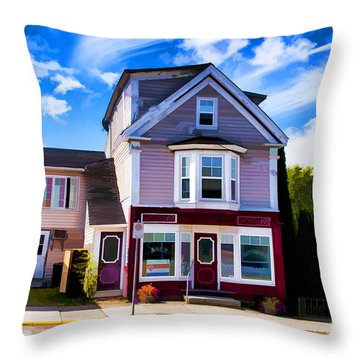 Shelbourne Bakery Throw Pillow