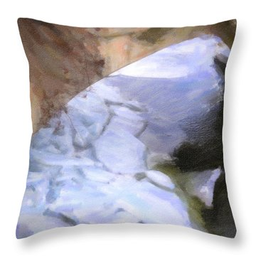 Shelburne Falls River Ice Throw Pillow by Tom Singleton