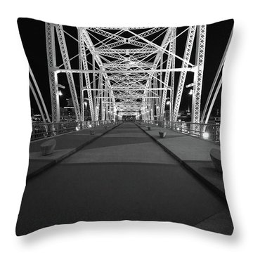 Shelby Bridge Bw Throw Pillow