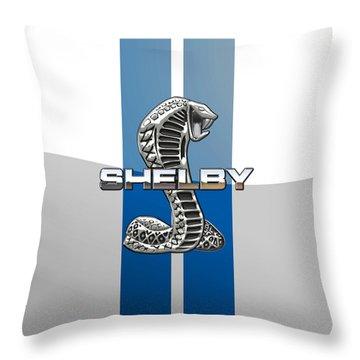 Shelby Cobra - 3d Badge Throw Pillow