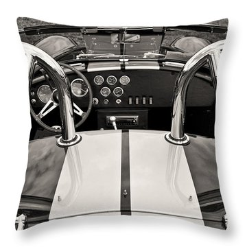 Shelby Cobra Throw Pillow by Scott Wood