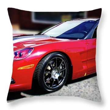 Shelby Corvette Throw Pillow