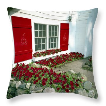 Shelby Flowers Throw Pillow