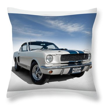 Throw Pillow featuring the digital art Shelby Mustang Gt350 by Douglas Pittman