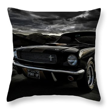 Shelby Gt350h Rent-a-racer Throw Pillow