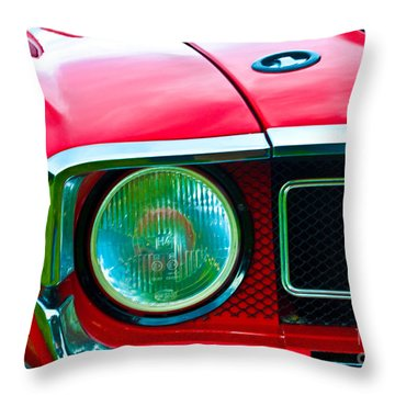 Red Shelby Mustang Throw Pillow